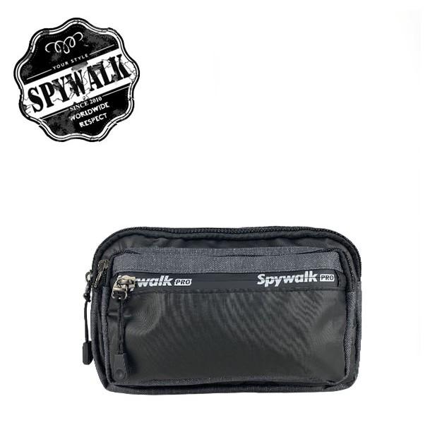 SPYWALK 新款防潑水腰包 時尚隱形拉鍊 NO S9092