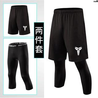 壓縮褲速七分籃球緊身健身nba跑步褲男運動干訓練長分褲科比﹤打底7+