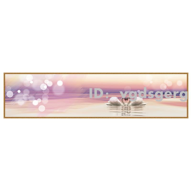 创意生活臥室裝飾畫床頭掛畫溫馨浪漫房間客廳壁畫背景墻現代簡約墻畫天鵝送禮 家用掛畫