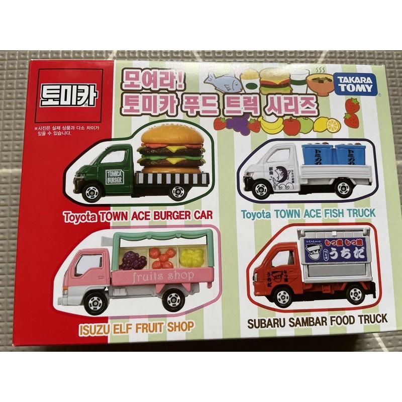 🇰🇷現貨*2,全新*Tomica/水果屋台漢堡魚餐車系列組