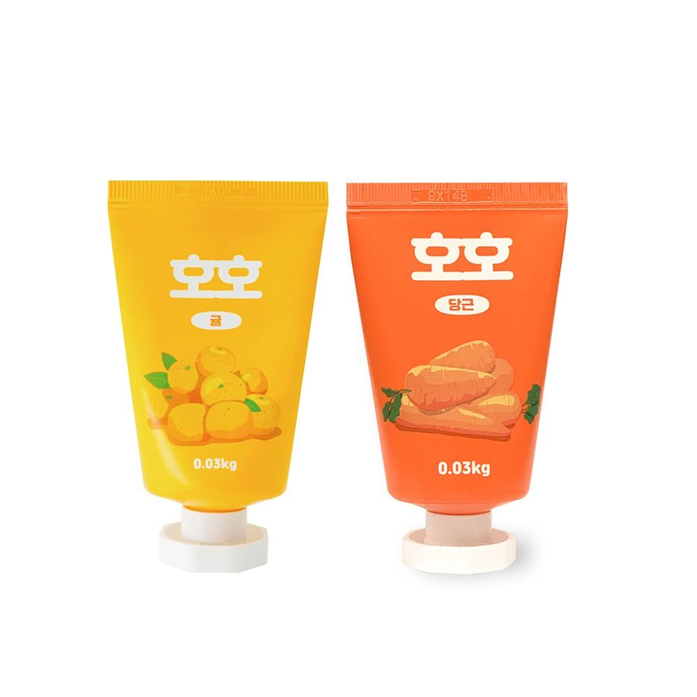 好好青果-古早味水果禮盒護手霜30mlx3入-柑橘/胡蘿蔔 送禮自用兩相宜 韓國熱銷護手霜