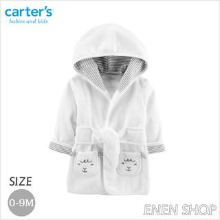 『Enen Shop』@Carters 可愛白綿羊款連帽浴袍/ 浴巾/ 包巾 #126H782 0-9M 新生兒/ 彌月禮 新竹縣
