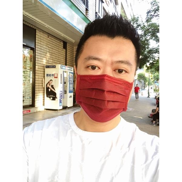 萊潔醫療防護平面式口罩-玩色炫彩系列-淡橙橘/軍墨綠/夜霓紫/夜櫻紅/冰河藍