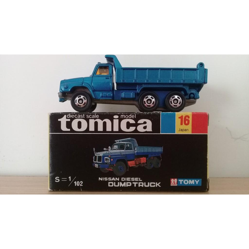 TOMICA 16 藍色 絕版 日本製 黑盒
