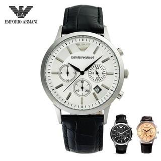 新款Armani阿曼尼AR男錶休閒石英錶皮帶三眼計時日曆防水男士手錶AR24322803917926 桃園市