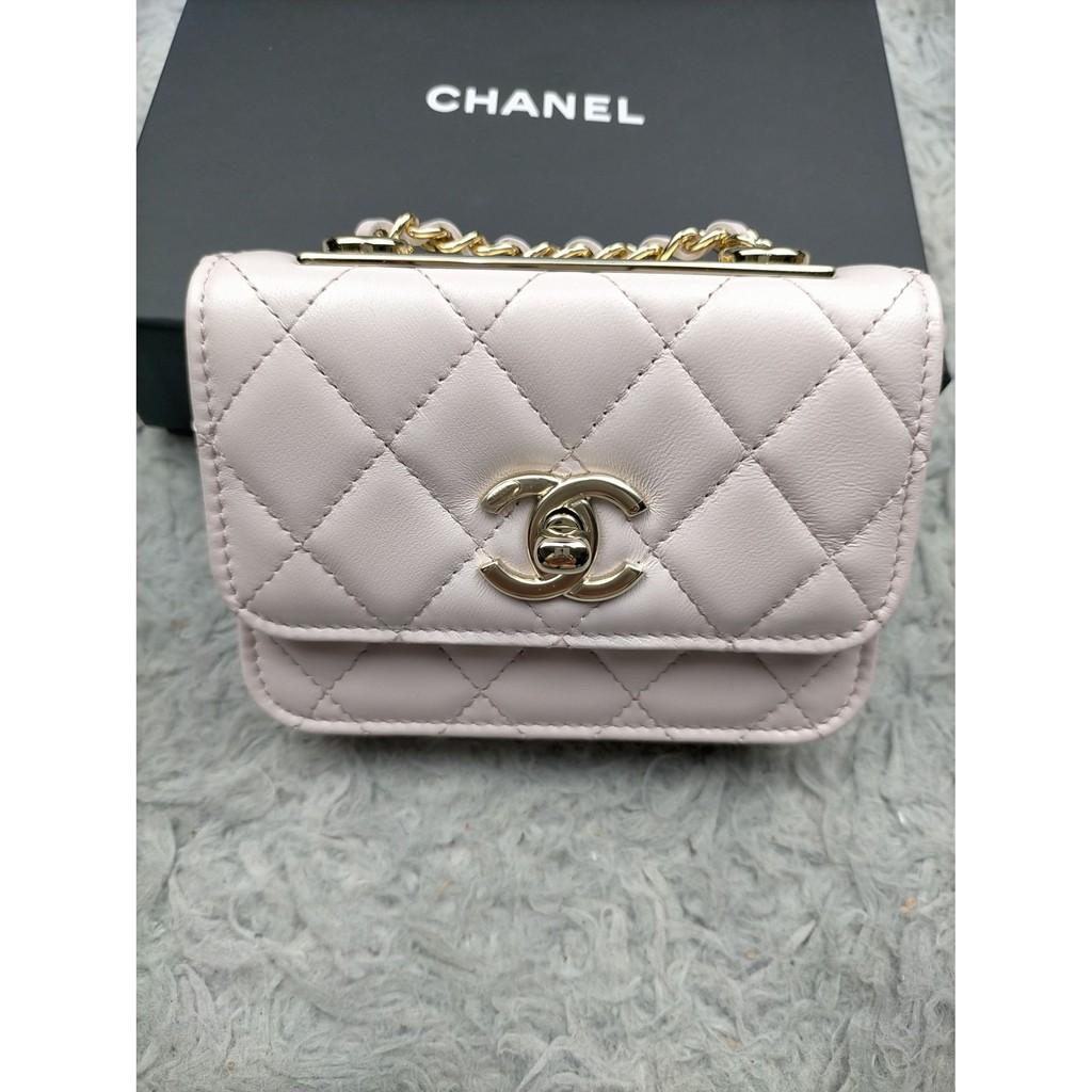 Chanel 新款 mini trendy cc 淡紫色 愛麋鹿歐美精品全球代購since2005💜