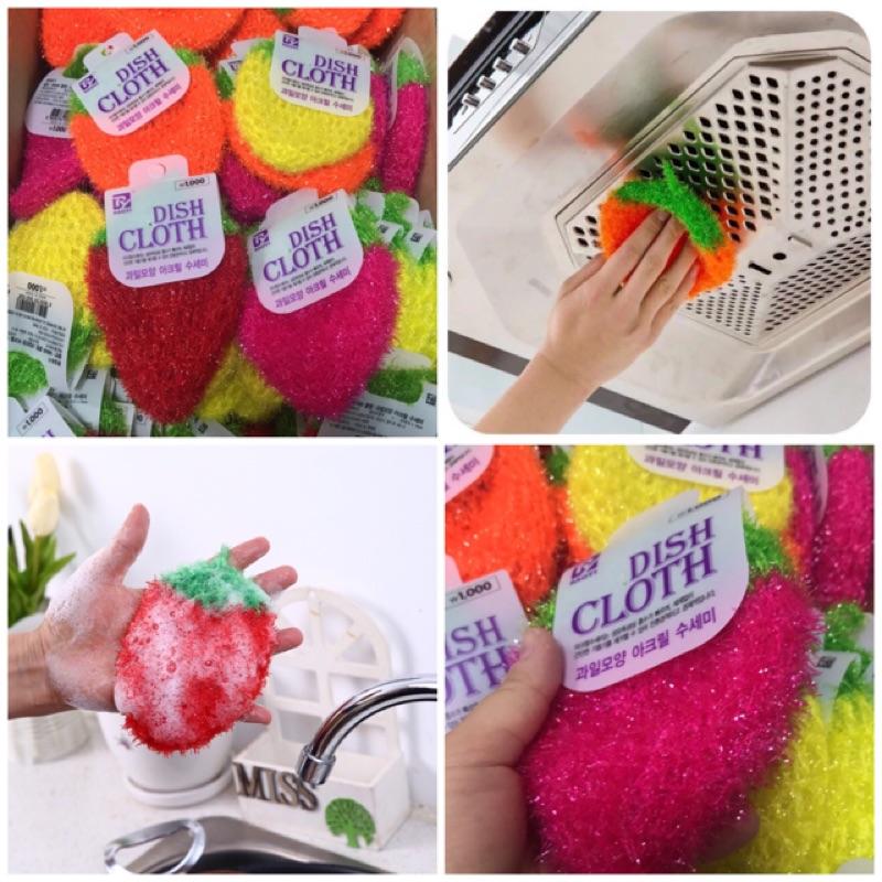 現貨 韓國草莓洗碗巾 草莓洗碗布