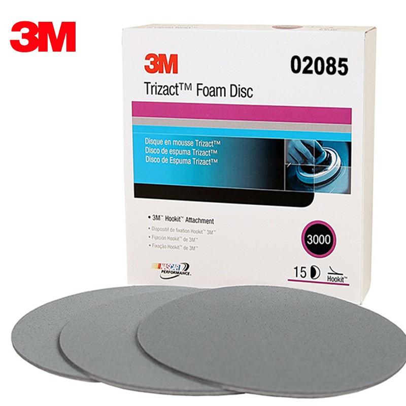 3M 海綿砂紙 2085Trizact-Blending-DISC鑽石結構(金字塔型)6英吋 3000番 水磨砂紙