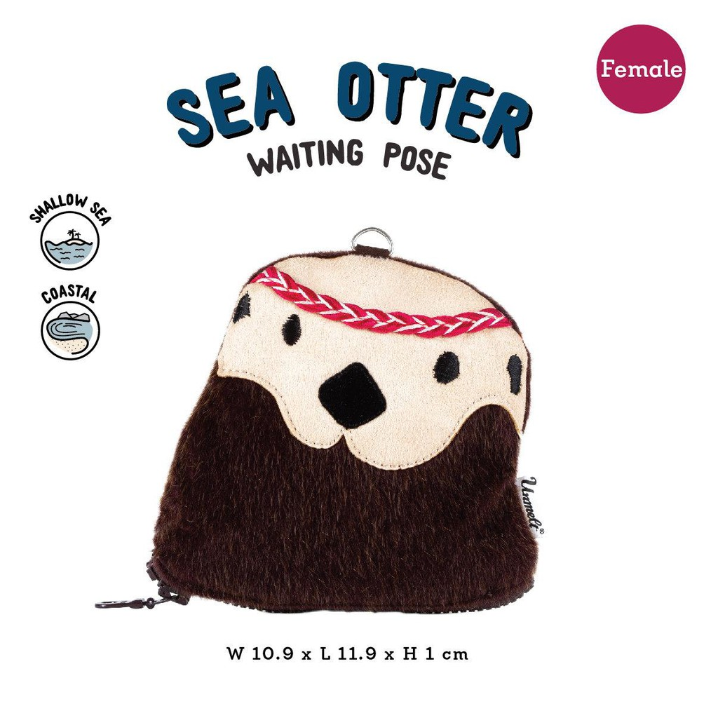 Unmelt-野生動物鑰匙包 (海獺/女) Wildkeeper(Sea Otter/girl)