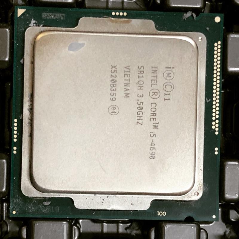 Intel core i5-4590 4670S 4690 4690S LGA1150 CPU 附原廠風扇