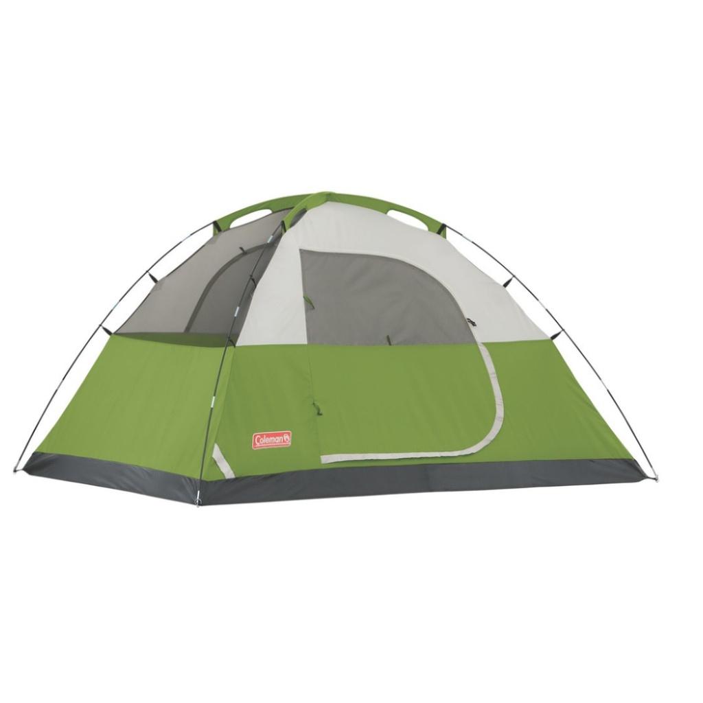 【現貨有發票】美國 Coleman 6人戶外露營帳篷 Sundome Green 6P Tent  登山 雙窗 透氣