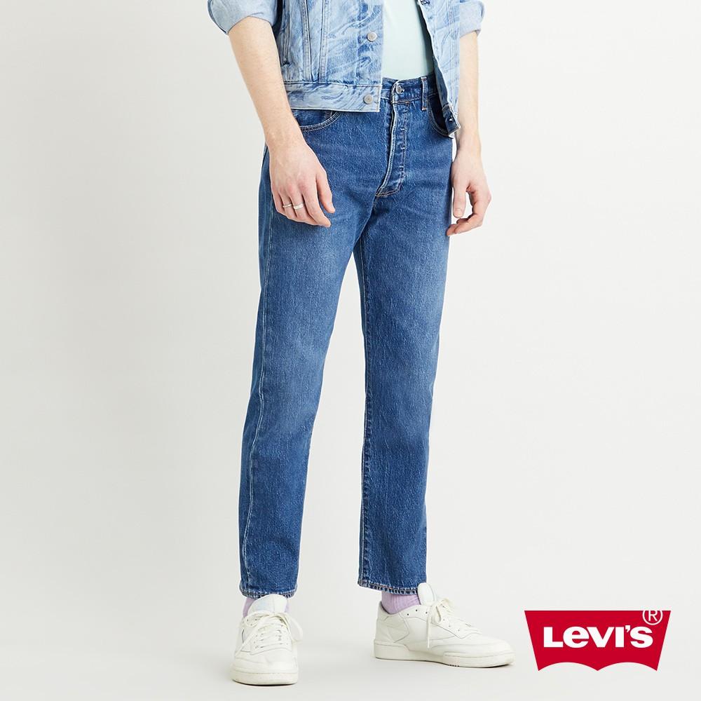 Levis 501 93復刻板排釦小直筒牛仔褲 / 中藍水洗 / 彈性布料 男款-熱銷單品 29098-0001