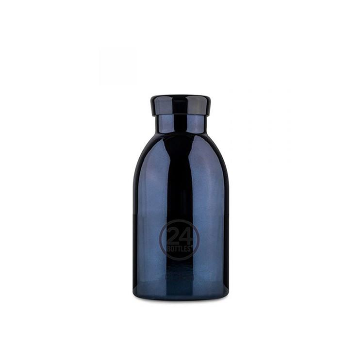 義大利 24Bottles 不鏽鋼雙層保溫瓶 330ml - 黑金