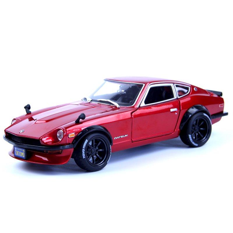 新品 模型車/復古 超跑!尼桑1971Datsun 240Z寬體車模 合金汽車模型 仿真收藏 美馳圖1:18