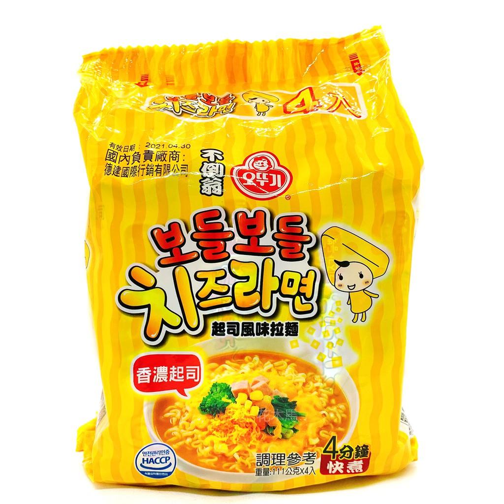 韓國不倒翁起司風味拉麵 泡麵拉麵 起司麵 4入/組