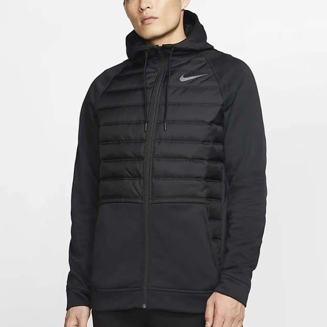 NIKE THERMA FZ WINTERIZED 男裝 外套 連帽 鋪棉 保暖 黑【運動世界】BV6299-010