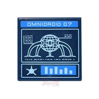 公主樂糕殿 LEGO 樂高 71012 迪士尼人偶包1代 2x2 銀幕 平板 印刷 深藍 3068bpb098 A083 新北市