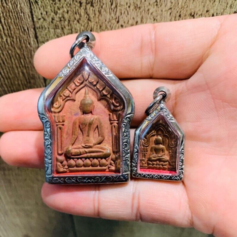 2入組 派更雅坤平黃銅版 龍婆馬哈蘇拉薩 周冠通猜同一眾高僧 2558年