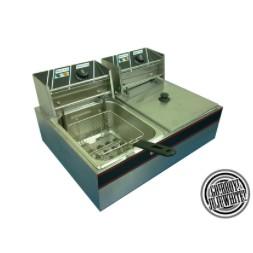 商用16 公升桌上型油炸機 (雙槽)110v