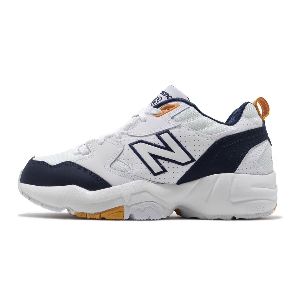 New Balance 慢跑鞋 NB 708 寬楦 白 深藍 黃 女鞋 男鞋 老爹鞋 IU WX708WPD 【ACS】