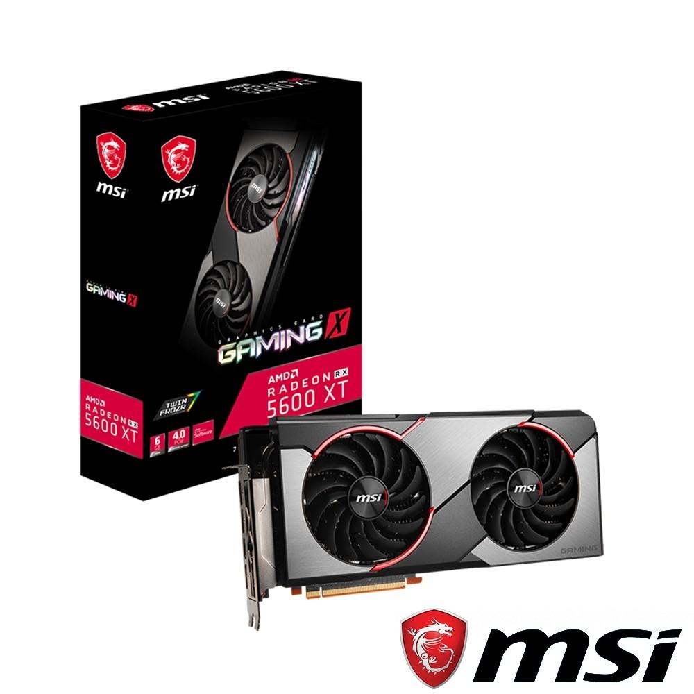 【免運附發票】MSI 微星 Radeon RX 5600 XT GAMING X 顯示卡 RX5600XT RX5600