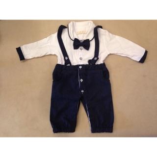 Baby小領結吊帶褲(3-6M) 台北市