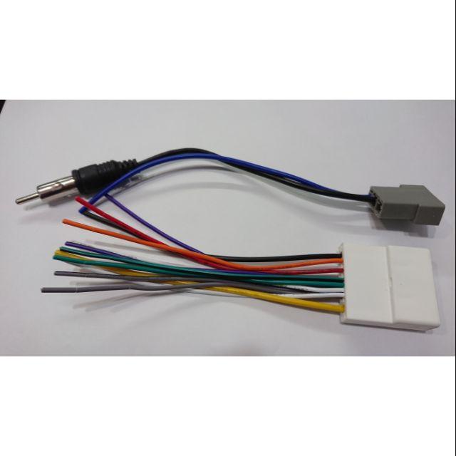 日產 Nissan tiida 汽車音響 改它牌音響主機 保留原廠線頭 電源喇叭線母頭含方控線 天線母頭