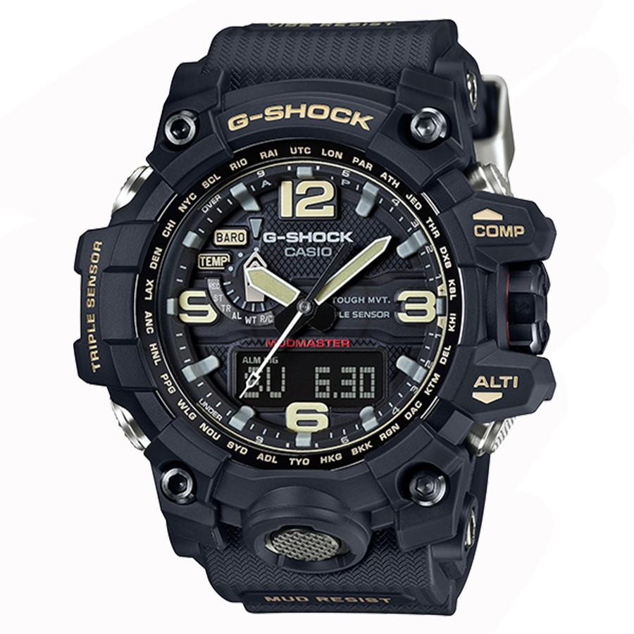 【CASIO】G-SHOCK 絕對強悍機能陸海空電波錶-金色GWG-1000-1A