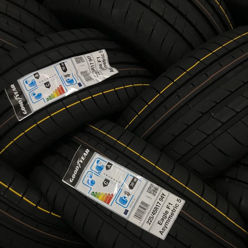 超便宜輪胎固特異/F1A5/ 235/45/17/特價/完工/免費調胎/米其林/輪胎保固