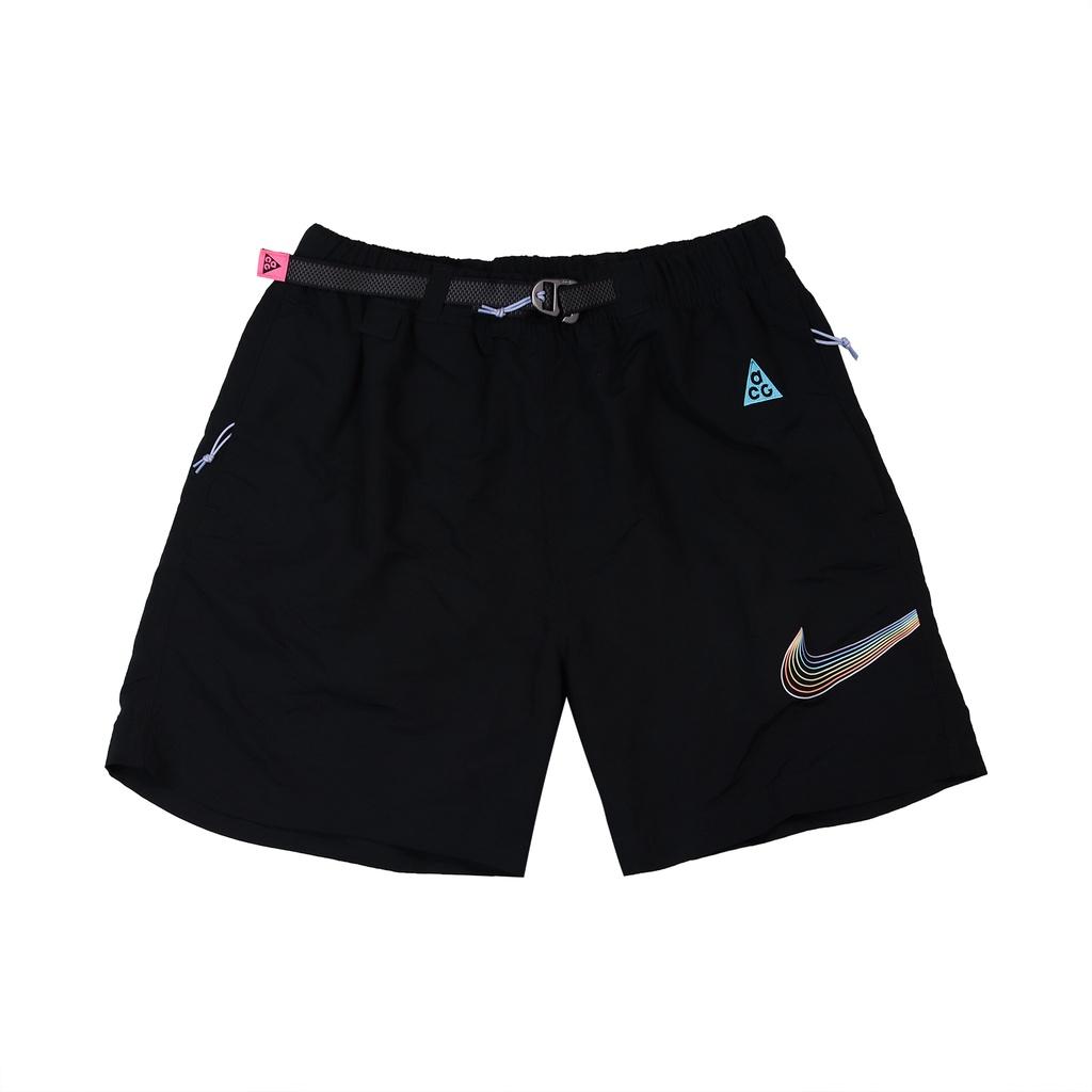 Nike 短褲 ACG BeTrue 黑 彩 男款 工裝 彩虹 磁扣 尼龍【ACS】 DJ1428-010