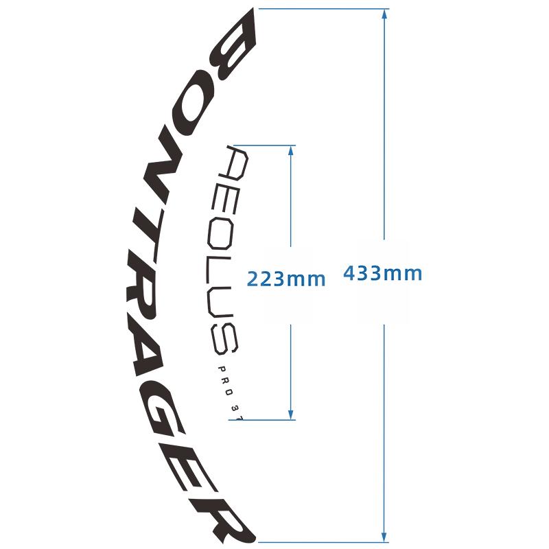 棒槌哥Bontrager Aeolus Pro 37 TLR 公路碟剎輪組自行車貼紙車圈