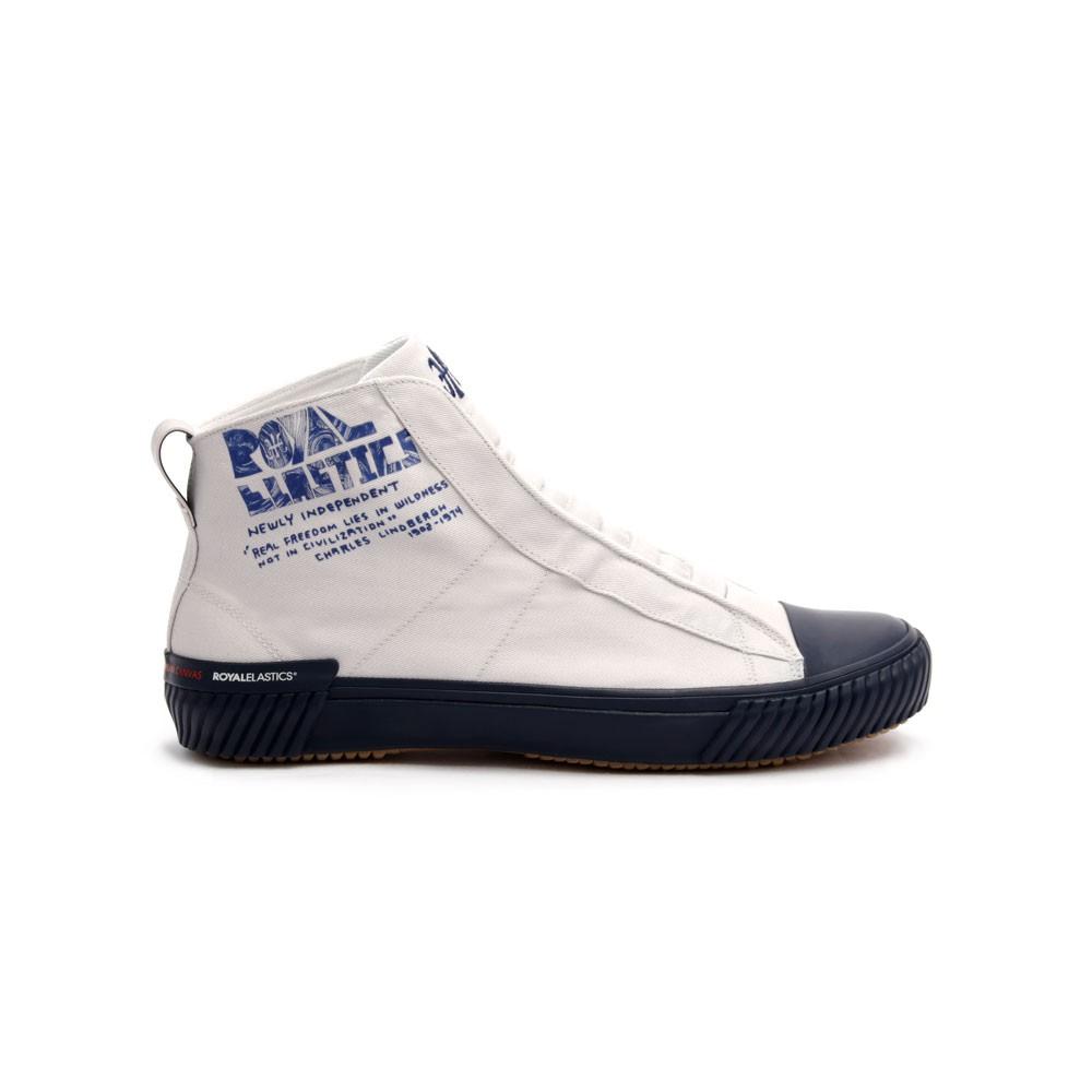 Royal Elastics HARAJUKU 白藍高筒帆布休閒鞋 (男) 04784-005