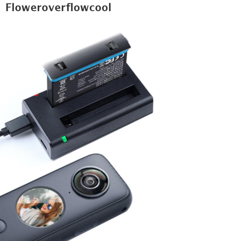 用於 Insta360-one x2 配件的 Fcmy 雙 USB 充電器雙可充電電池熱
