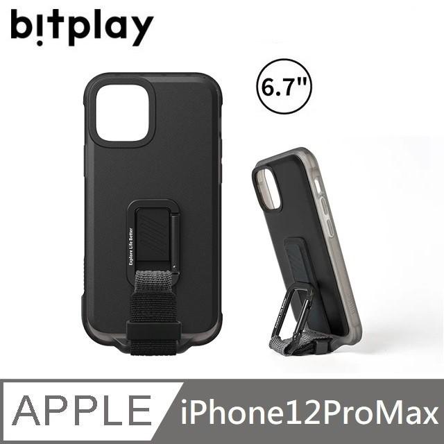 bitplay WanderCase 立扣殼 獨創自立扣環 - iPhone12ProMax -黑色 【贈】台製滿版玻保