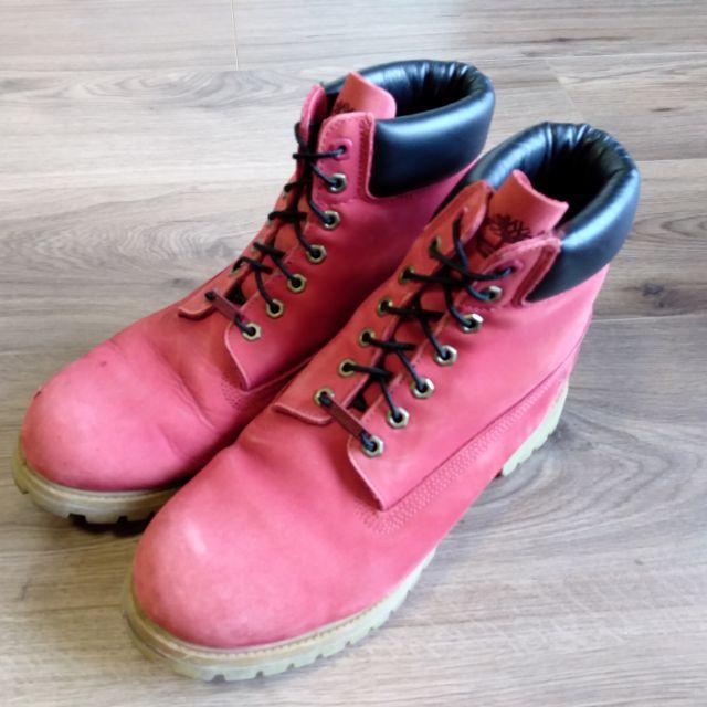 工裝靴 Timberland 40年紀念款6吋黃靴 us12w 30cm 八成新正品公司貨