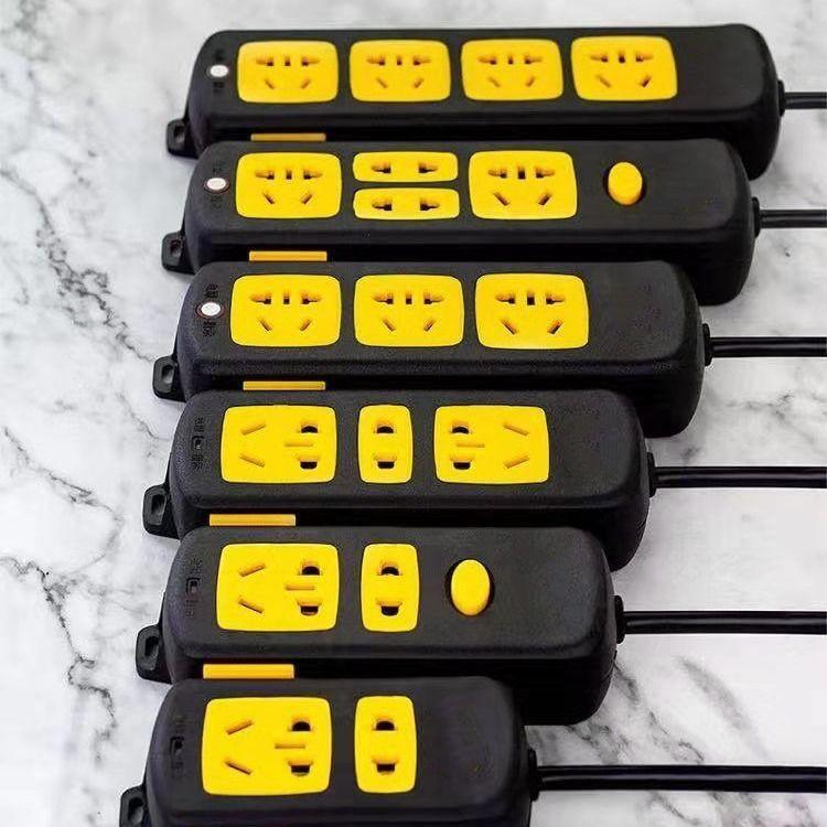 匠人~工具黑金剛大功率3000W排插座電動車延長線電磁爐專用電排