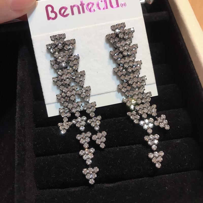 全新Benteau鑽耳環