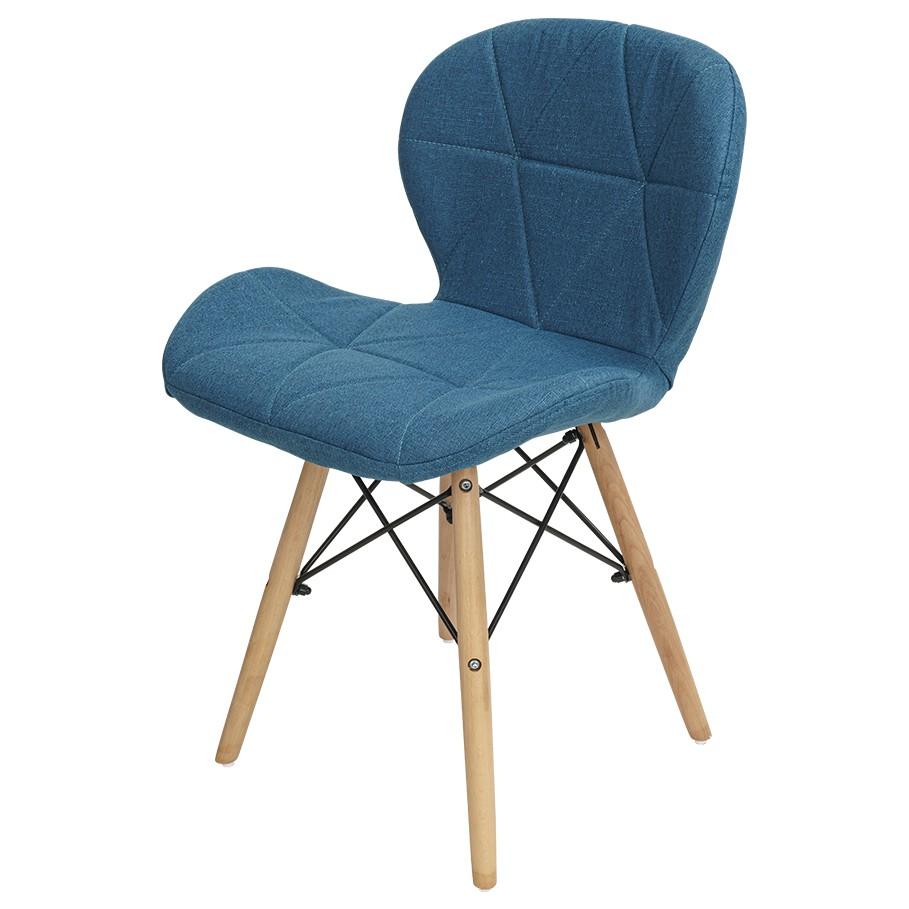 日系 棉麻雷達椅 棉麻椅 休閒椅 實木餐椅 復刻椅 伊姆斯椅 棉麻 棉麻休閒椅 椅子 吧檯椅 菱格紋 蝴蝶椅【A133】
