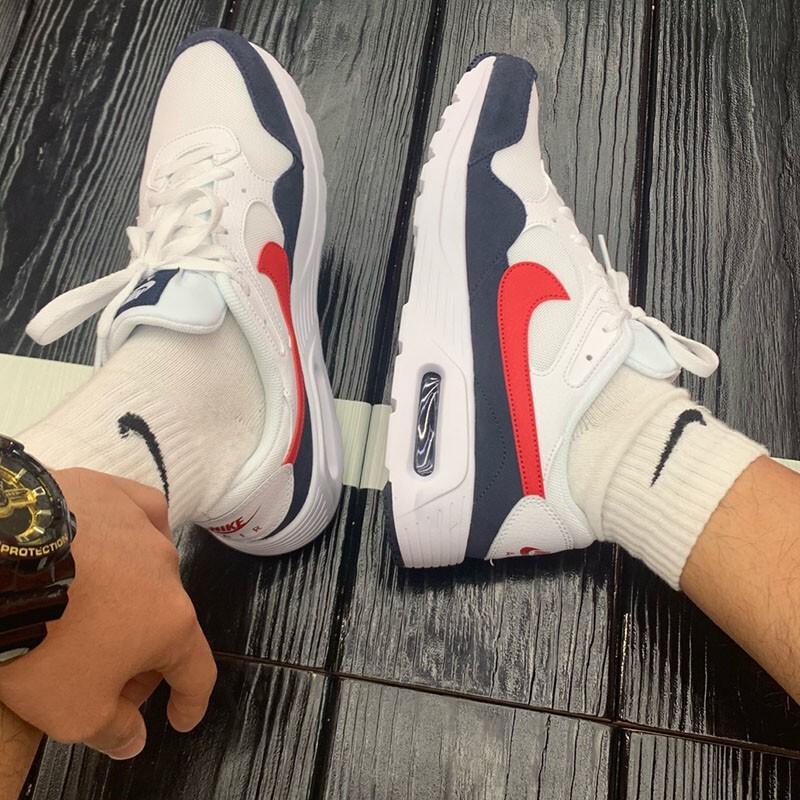 SHOEBOX Nike Air Max SC 白黑紅氣墊基本款避震運動鞋男鞋CW4555-103 | 蝦皮購物
