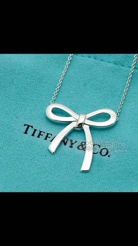 全新 TIFFANY&Co.Tiffany Bow 蝴蝶結純銀項鍊