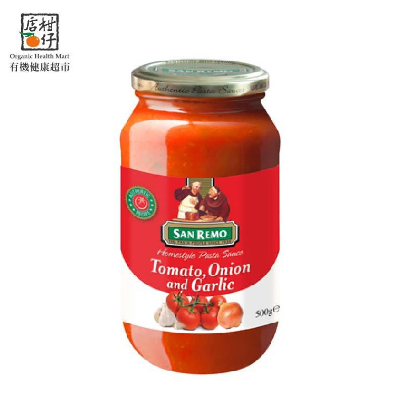 聖雷蒙頂級麵醬-蕃茄大蒜(500g/罐)