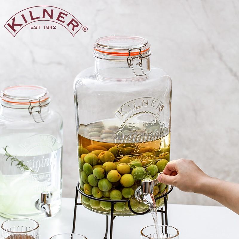 耐用英國kilner帶水龍頭冷水壺大容量高顏值家用玻璃泡酒罐果汁涼水壺.蓋茨小店