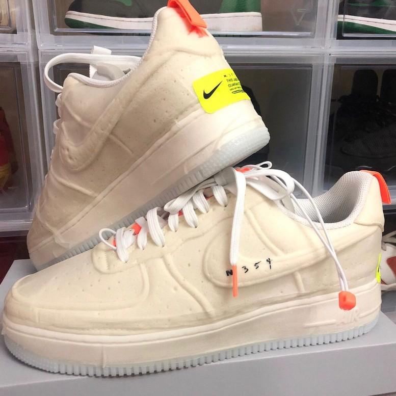 Nike Air Force 1 Experimenta 米白橘 海綿 CV1754-100