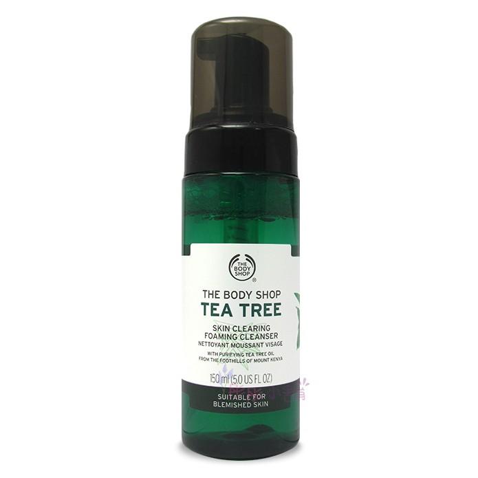 The Body Shop Tea Tree 茶樹淨膚潔面慕絲 150ml 美國進口 新包裝 彤彤小舖