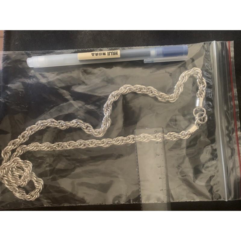 3倆多 純銀麻花項鍊 獨家(手工包頭扣)半價相送