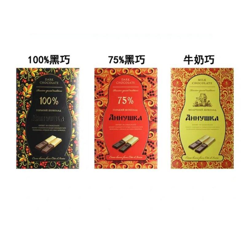 酮食分享團-Annushka安諾希克100%75%可可純黑巧克力