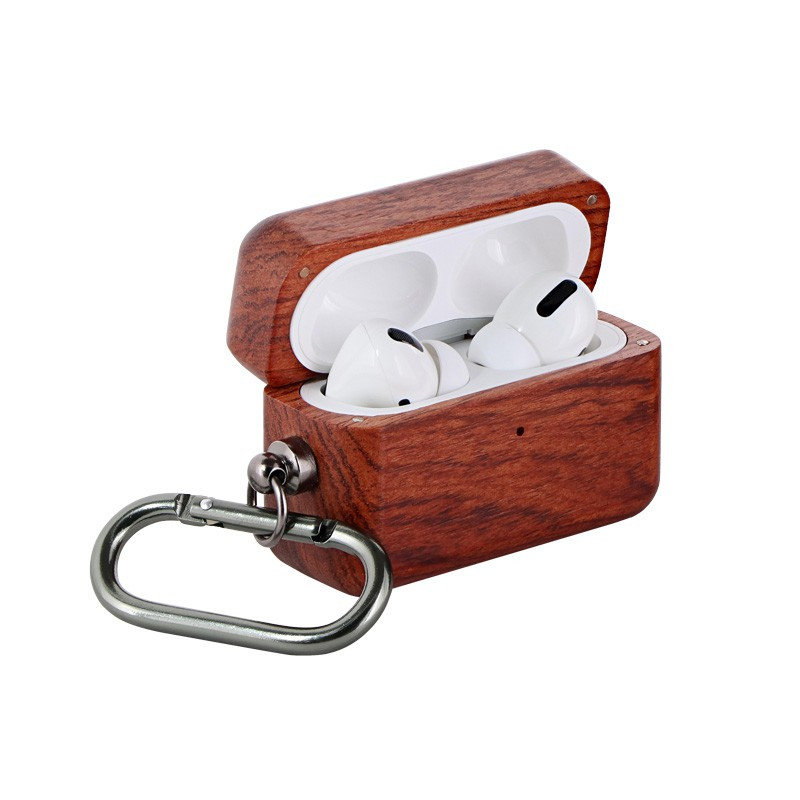 Leplus Natural wood Airpods Pro 木質耳機保護殼【現貨】天然原木 登山掛勾 時尚典雅