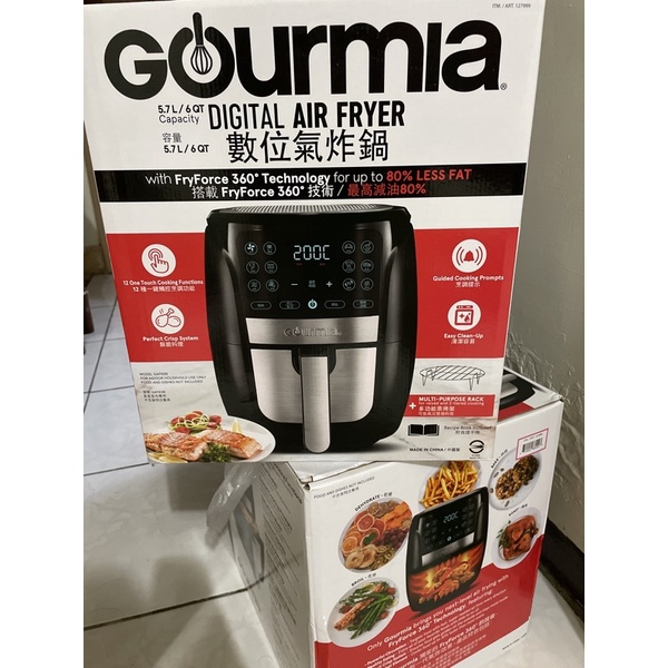 新手第一次賣(缺貨中)好市多Gourmia 數位氣炸鍋5.7公升(全新品)