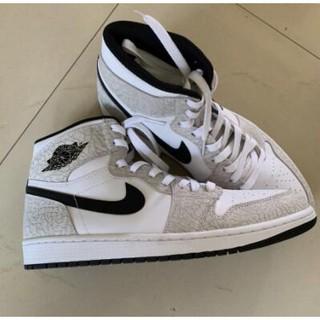 路飛正品潮鞋 Air Jordan 1 Retro White Elephant Print 839115-106