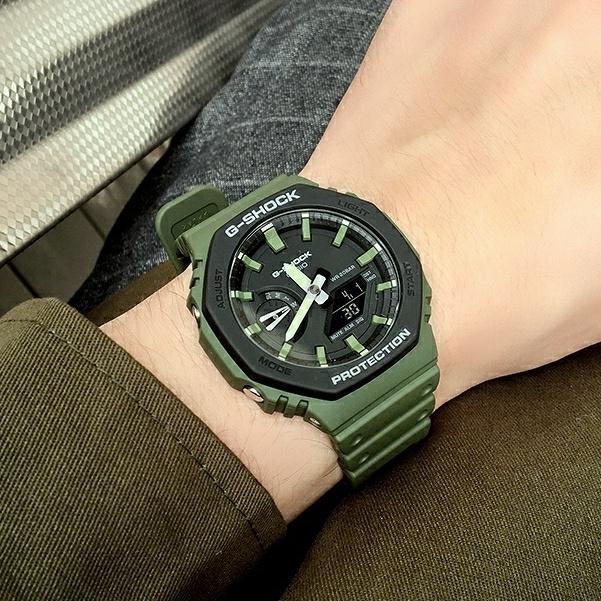卡西歐 農家橡樹 G-SHOCK 八角形 碳纖維 手錶男 GA-2100SU-3A